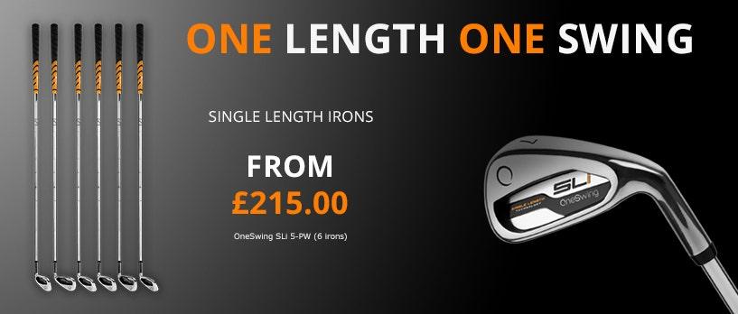 Single length Irons - OneSwing