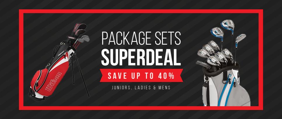 Package sets up to 40% discount - Junior, Ladies & men