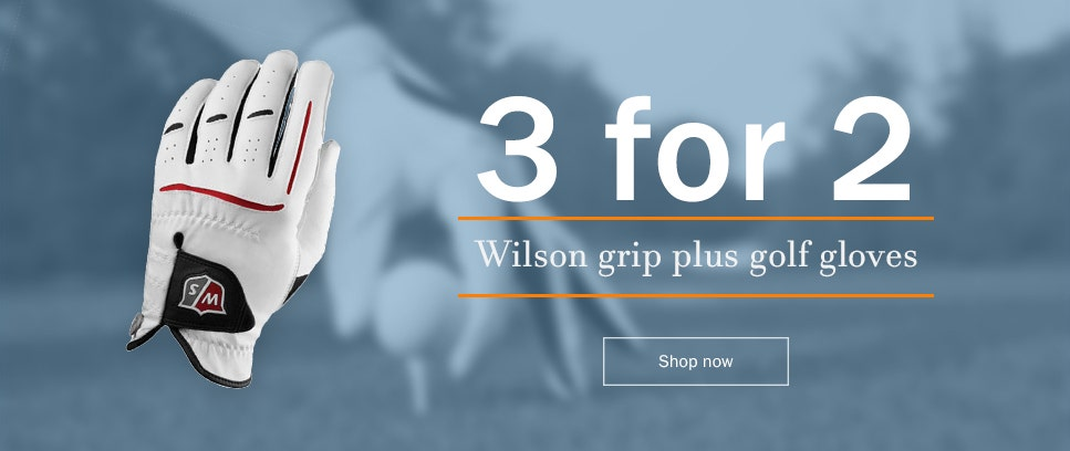 Buy 3 Golf gloves from Wilson for the price of 2